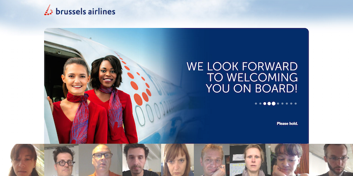 Brussels Airlines waiting screen