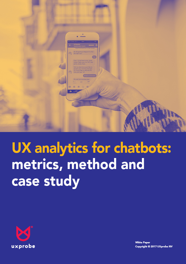 chatbots ux analytics white paper cover