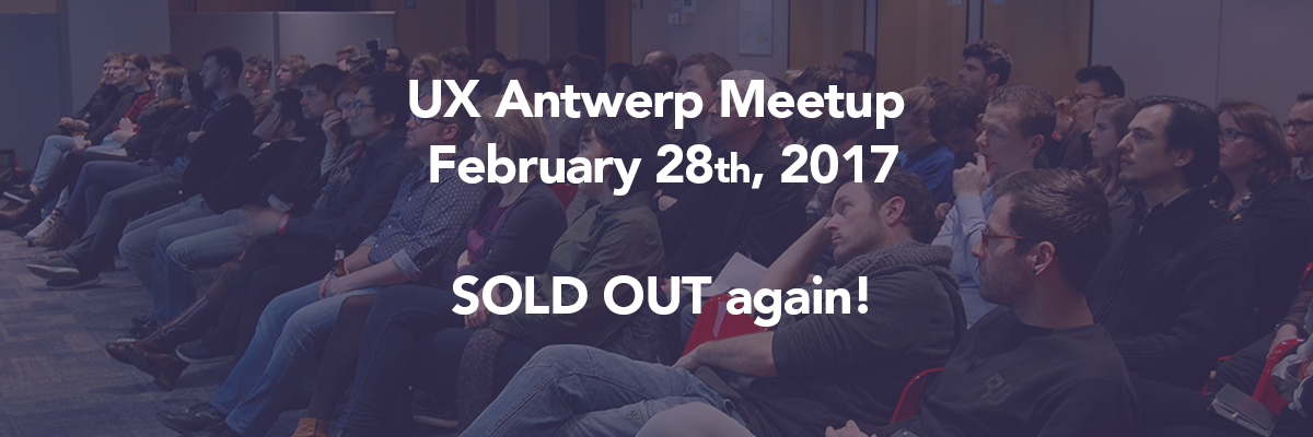 UX Antwerp Meetup February 2017 designer journey