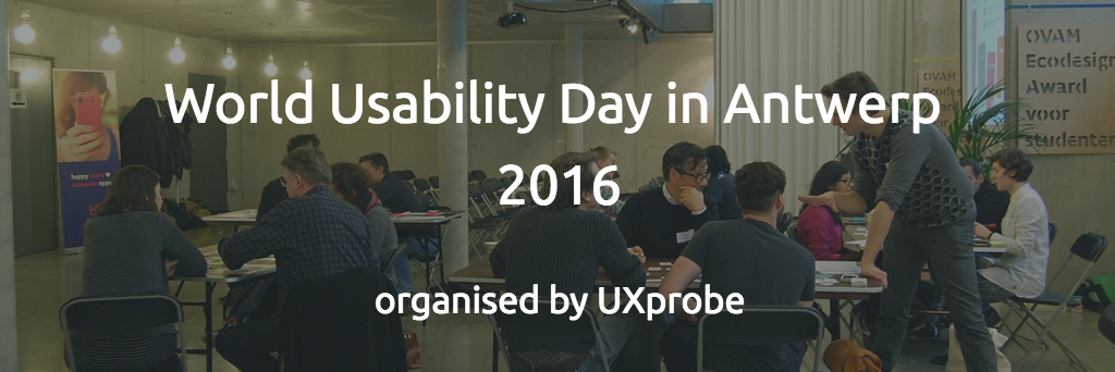 Event World Usability Day in Antwerp 2016