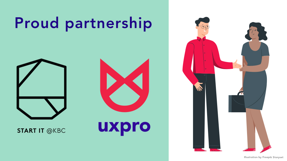 UXpro is proud partner of startup accelerator Start it @KBC