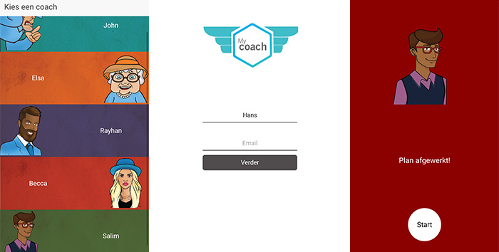 My Coach App Screens
