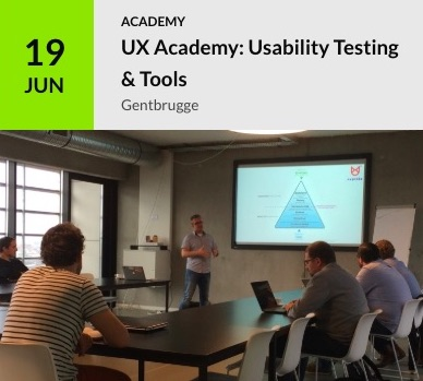 Course: usability testing on June 19 in Gentbrugge