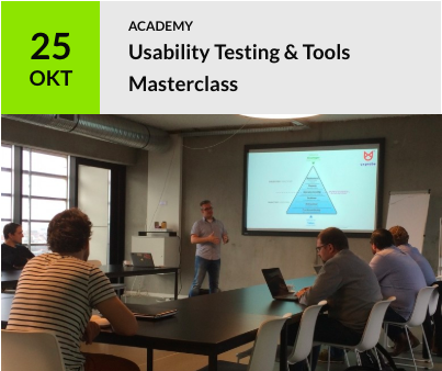 Course: usability testing on October 25
