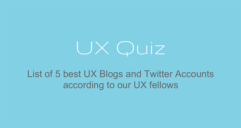 Great List of UX Blogs and Twitter Accounts!