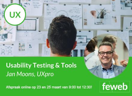 Online cursus: usability testing op 23 & 25 maart telkens van 9:00 tot 12:30