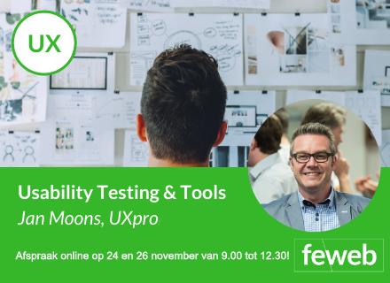 Online cursus: usability testing op 24 & 26 november telkens van 9:00 tot 12:30